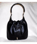 VINTAGE GUCCI BLACK LEATHER SHOULDER/HOBO BAG,... - $524.99