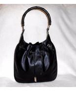 VINTAGE GUCCI BLACK LEATHER SHOULDER/HOBO BAG,... - $524.99