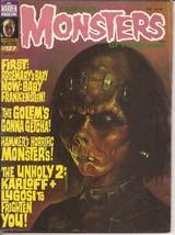 Famous Monsters Of Filmland #127 Baby Frankenstein Golem Karloff Lugosi ... - $8.95