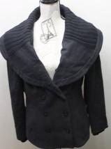 Zara Women Blazer Jacket Double Breasted Pea Coat Black XL Wool Lined - $42.06