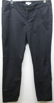 Calvin Klein Women Pants Black Slim Stretch Sz 8 Cotton 32 Inches Flat Front - $19.57