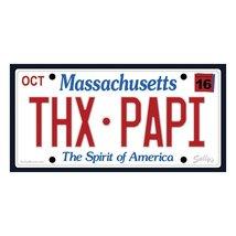 Thx Papi David Ortiz License Plate Red Sox Vintage 3X6 Vinyl Baseball Sticker - $4.75