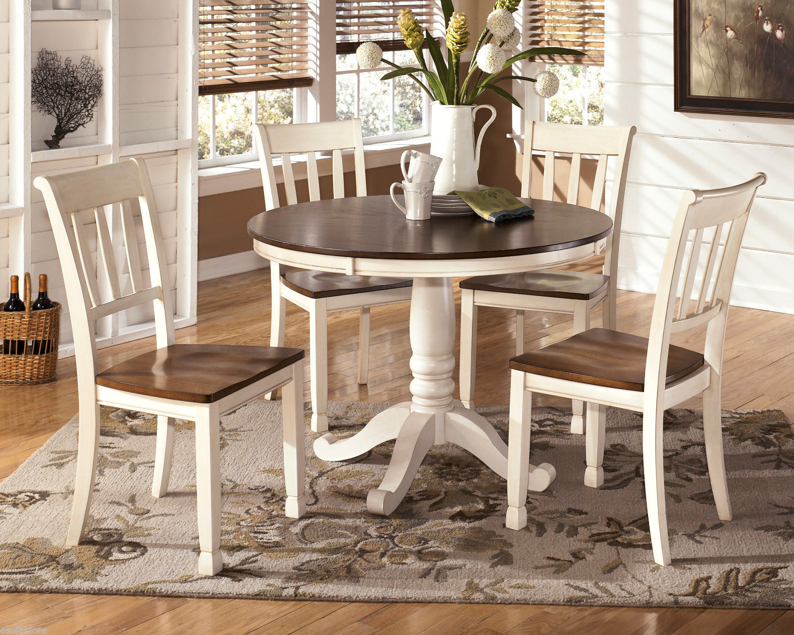 Whitesburg Brown Cottage White Dining Room Chair Set Of 2 By Ashley D