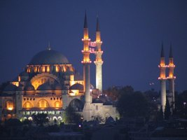 Vinteja Photography - Suleiman Mosque in Istanbul - Turkey (night) - A3 ... - $19.79