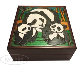 Panda Family Box Polish Handmade Wood Keepsake Kids/Adult Jewelry Box - €28,43 EUR