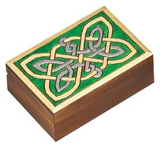 Celtic Knotwork Box Polish Handmade Jewelry Box Linden Wood Keepsake - €28,43 EUR