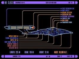 Vinteja charts of - LCARS UFP NX Class Starship - A3 Poster Print - $22.99