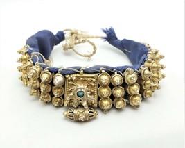 Antique Bedouin wedding gold Choker Necklace Yemen,Lazim Yemen , Massive Ethnic, - $695.00