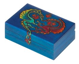 Two Intertwined Dragons Wood Box Polish Handmade Jewelry Box Wooden Keep... - €25,19 EUR