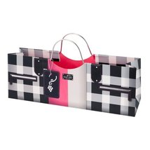 Revel Paper 2877 Fashion Single Bottle Paper Wine Purse, Black/Pink - $14.69