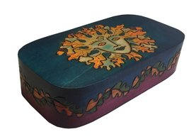 Oval Mother Nature Box Polish Handmade Linden Wood Keepsake Jewelry Box - €30,15 EUR