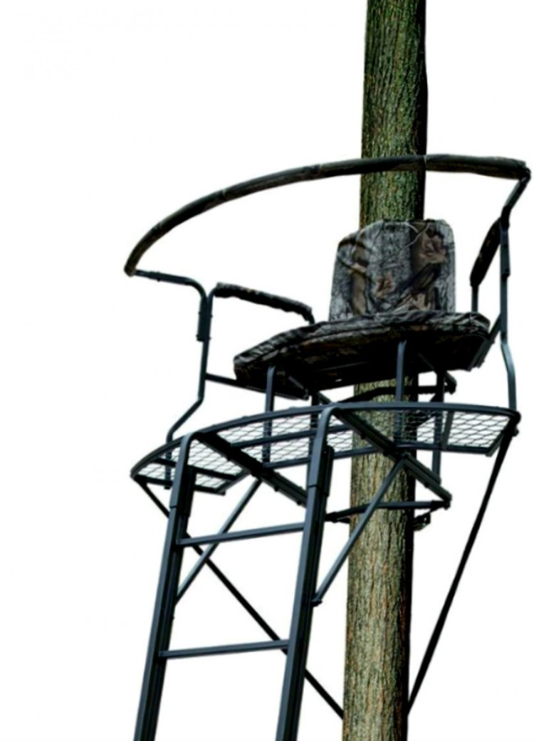 2 man xl ladder tree stand climbing hang blind big game for Ladder deer stands