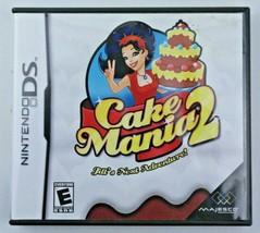 Cake Mania 2 (Nintendo DS, 2008) Complete CIB Jill's Next Adventure Baki... - $8.88