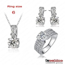 LZESHINE 2017 Big Sale Bridal Jewelry Sets Silver Color Necklaces Pendan... - $17.19