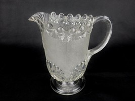 EAPG 1893 Westmoreland Victor Clear Stippled Pitcher AKA Shell and Jewel... - $48.95