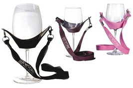 "Wine Glass Holder Necklace, ""WineYoke"" Party Time Wine Tasting Hand Free... - $20.01 CAD"