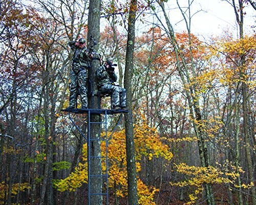 2 person ladder tree stand 19 foot big game hunting for Two man deer stand plans