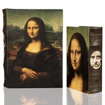 "Da Vinci "" Mona Lisa"" Secret Book Box Set of 2 Hidden Storage Jewelry Bo... - €40,44 EUR"