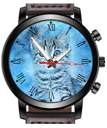 Cute Cat Painting Sketch Art Unique Unisex Beautiful Wrist Watch UK FAST - $45.00