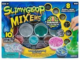 SLIMYGLOOP Surprise Mystery Mix'ems Kit 119 piece Kids Slime Crafting kit NIB
