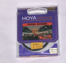 49mm Hoya Cross Screen Glass Lens filter Japan ... - $14.78