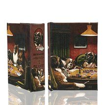 """Dogs Playing Poker"" Secret Storage Book Box Stash Box Faux Leather Over Wood - $17.63"