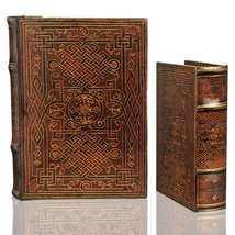 Celtic Eternal Knot Secret Book Box Set of 2 Hidden Storage Jewelry Box Set - €40,44 EUR