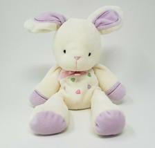 Carter's Creme Bunny Rabbit Couleur Coeurs #98677 Hochet Animal en Peluche Jouet - $59.33
