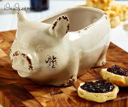 Large Ceramic Pig Shaped Bowl 96 Oz Country Rustic Farmhouse Style Kitch... - $17.12