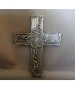PEWTER SCROLL CROSS BY CARPENTREE 2001 - $4.90
