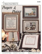 Prayers & Praises Dakota Cross Stitch Pattern Booklet NEW 6 Designs - $4.47