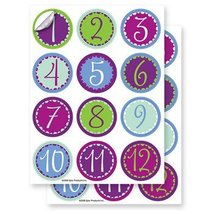 Epic Products Whimsy Numbers Glass Stick'ems (Set of 24), Multicolor - $7.83