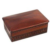 Espresso Stained Linden Wood Jewelry Keepsake Storage Box - $35.27