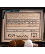 Martha Wilmot Sampler 1846 reproduction cross s... - $16.00