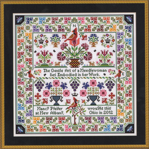 Cardinal Points reproduction cross stitch chart The Gentle Art  - $18.00