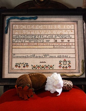 Martha Wilmot Sampler 1846 reproduction cross stitch chart The Gentle Art