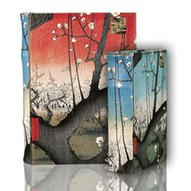 Hypnotizing Elegants Hiroshige Blooming Plums Nesting Secret Jewelry Book Boxes - $48.99