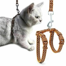 Cat Harness Leash Adjustable Nylon Vest Collar Small Pet Cats Collars Su... - $7.59