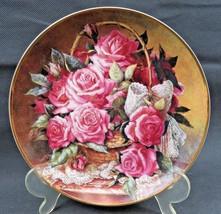 Grace De Monaco Rose Plate Franklin Mint Fine Porcelain Katherine Austen - $28.00