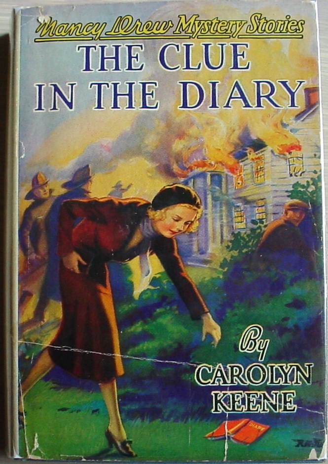 Primary image for Nancy Drew mystery #7 THE CLUE IN THE DIARY hcdj 1940A-20 FARAH'S Carolyn Keene