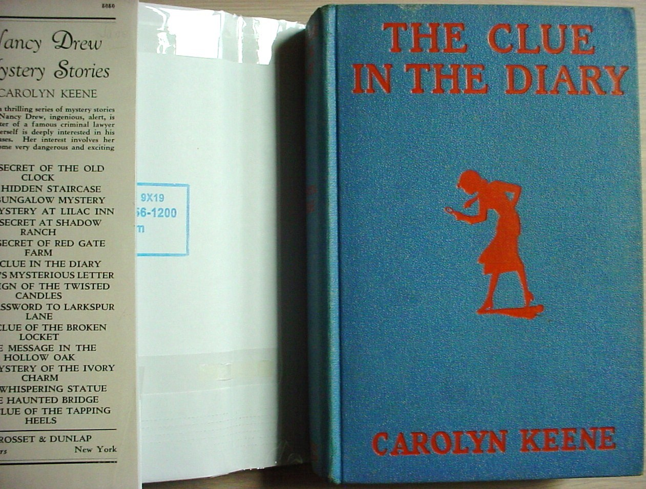 Nancy Drew mystery #7 THE CLUE IN THE DIARY hcdj 1940A-20 FARAH'S Carolyn Keene