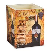 Colorful Picturesque Ciao Italia Tealight Candle Lantern Holder - $19.59