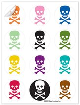 Epic Products Pick Your Poison Glass Stick'ems (Set of 24), Multicolor - $7.83