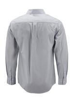 Men's Cotton Casual Long Sleeve Classic Grey Button Up Dress Shirt - Medium image 2