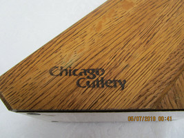 Vintage Chicago Cutlery Knife Block 9 Slot Oak - $9.49