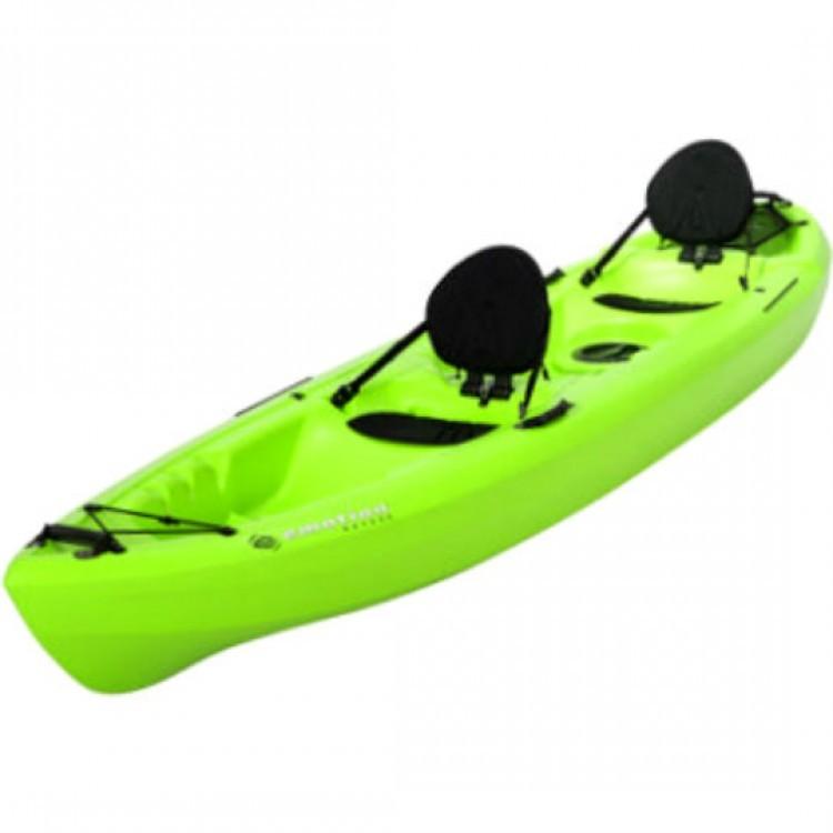 tandem sit on kayak paddle lake fishing green canoe 12
