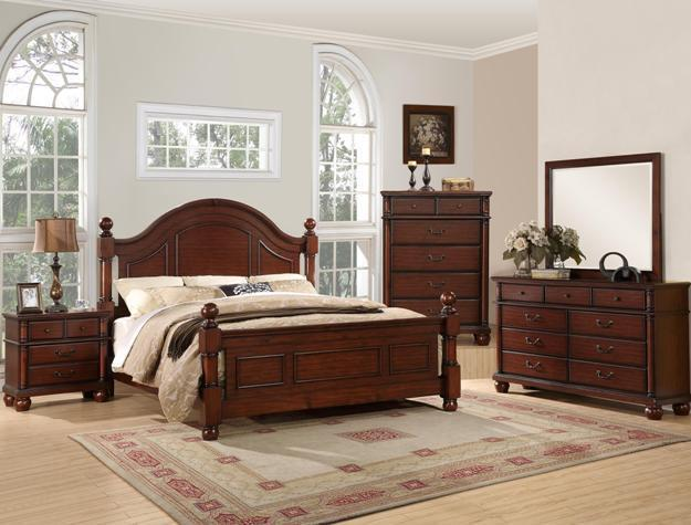 Crown Mark RB7800 Augusta Queen Size Bedroom Set Traditional  2 Night Stands