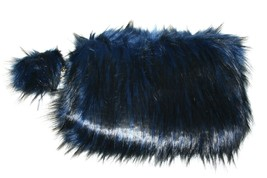 Jennifer & Company Faux Fur Women's Shoulder Bag with Keychain, Blue/Black - $29.99