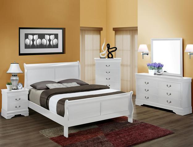 Crown Mark RB3600 Louis Philip Queen Size Bedroom Set 5pc. Contemporary Style