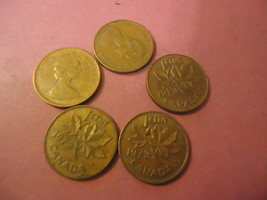 1973 CANADIAN CENT LOT OF 5 COINS                  COMBINED SHIPPING - $0.65
